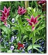 Monets Garden Canvas Print