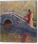 Monet's Lady Canvas Print