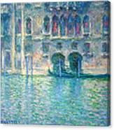 Monet's Palazzo De Mula In Venice Canvas Print
