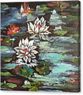 Monet's Pond With Lotus 1 Canvas Print