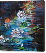Monet's Pond With Lotus 11 Canvas Print