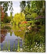 Monet's Water Garden 2 At Giverny Canvas Print