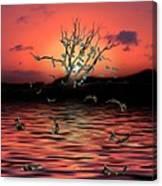 Money Tree Sunset Canvas Print