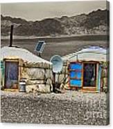 Mongolian Yurts Canvas Print
