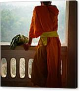 Monk In Luang Prabang Canvas Print