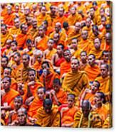 Monk Mass Alms Giving Canvas Print