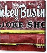 Monkey Business A Joke Shop Canvas Print