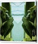 Monkey See Monkey Do Canvas Print