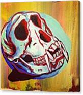Monkey Skull Canvas Print