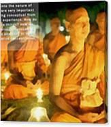 Monks In Meditation Canvas Print