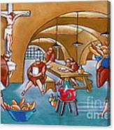 Monks Meal Canvas Print
