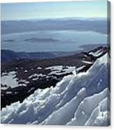 Mo-186-mono Lake From Mt. Dana In Winter  Canvas Print