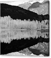 Mono One Mile Lake Canvas Print