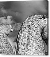 Monochrome Kelpies Canvas Print
