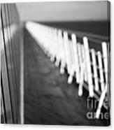 Monochrome Sun Deck Canvas Print