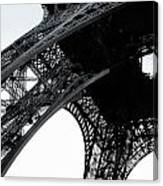 monocrome leg of Eiffel tower Canvas Print