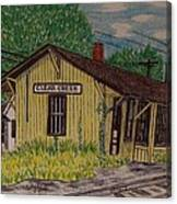 Monon Clear Creek Indiana Train Depot Canvas Print