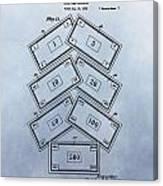 Monopoly Money Patent Canvas Print