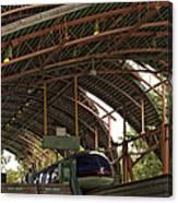 Monorail Depot Disneyland 01 Canvas Print