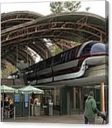 Monorail Depot Disneyland 02 Canvas Print