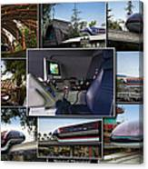 Monorail Disneyland Collage Canvas Print