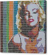 Monroe In Stamps Canvas Print