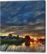 Monsoon Sunset Canvas Print