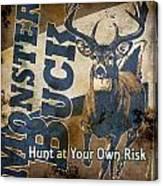 Monster Buck Deer Sign Canvas Print