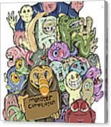 Monster Compilation Canvas Print