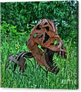 Monster In The Grass Canvas Print