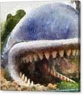 Monstro The Whale At Disneyland All Teeth Photo Art Canvas Print