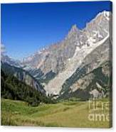 mont Blanc from Ferret valley Canvas Print