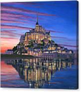 Mont Saint-michel Soir Canvas Print