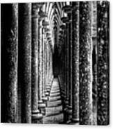 Mont St Michel Pillars Canvas Print