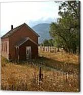 Montana Schoolhouse Canvas Print