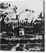 Montana Smelting, 1880s Canvas Print