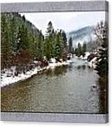 Montana Winter Frame Canvas Print