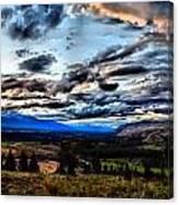 Montanta Sunset Canvas Print