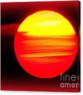 Montauk Sunset Abstract Canvas Print