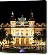Monte Carlo Casino At Night Canvas Print
