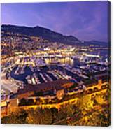 Monte Carlo Harbor  Canvas Print