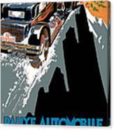 Monte Carlo - Vintage Poster Canvas Print