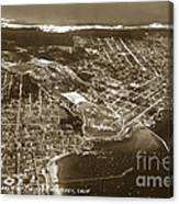 Aerial Of Monterey And Pacific Grove  California Oct. 25 1934 Canvas Print