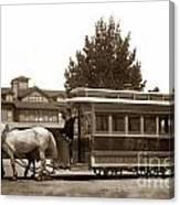 Monterey And Pacific Grove Street Railway Circa 1895 Canvas Print
