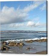 Monterey Bay Beach Scenic View Canvas Print