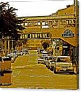 Monterey Cannery Row Company Canvas Print