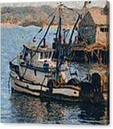 Monterey Fish Company Abstract Canvas Print