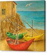 Monterosso On Riviera Di Levante Canvas Print