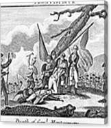 Montgomerys Death, 1775 Canvas Print