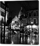 Montmartre Black And White W  Canvas Print
